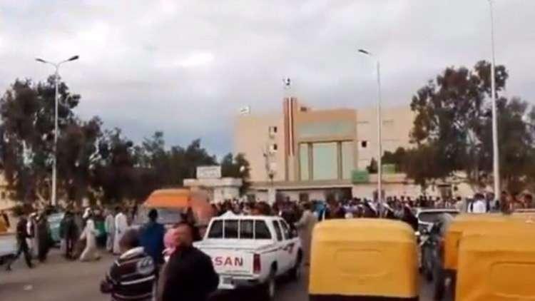 لقطات من موقع التفجير في مسجد الروضة في العريش