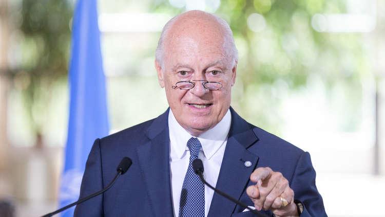 دي ميستورا: أعترف بأن روسيا أرست أسس العملية السياسية بسوريا