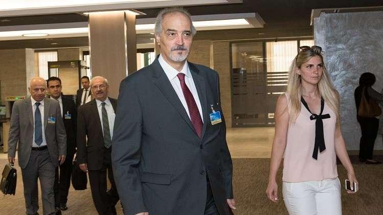وصول وفد الحكومة السورية إلى جنيف