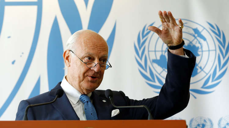 دي ميستورا: يجب التركيز على تحقيق تقدم ملموس في العملية السياسية السورية