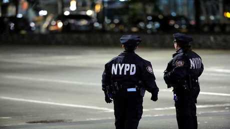 أفراد من شرطة نيويورك في مهمة