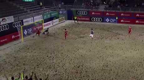 روسيا تبلغ المربع الذهبي لكأس القارات بكرة القدم الشاطئية
