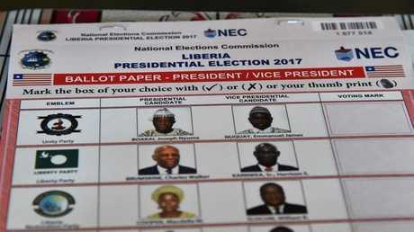 انتخابات الرئاسة في ليبيريا