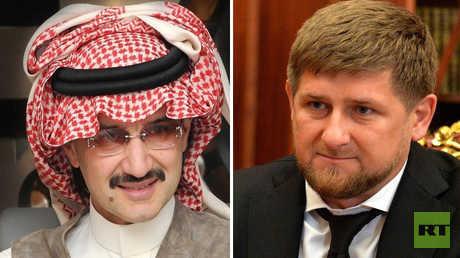 الرئيس الشيشاني، رمضان قادروف، والأمير السعودي، الوليد بن طلال