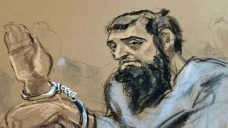 صورة مرسومة تظهر سيف الله صايبوف منفذ الهجوم الإرهابي في منهاتن بنيويورك
