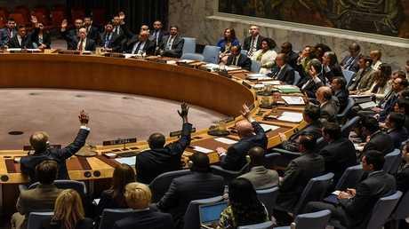 أرشيف - مجلس الأمن يصوت على مشروع قرار يدين استخدام الأسلحة الكيميائية في سوريا - نيويورك - 12 أبريل 2017