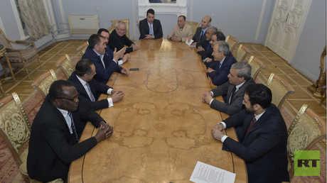 اجتماع رئيس جمهورية إنغوشيا مع السفراء العرب في مايو 2017