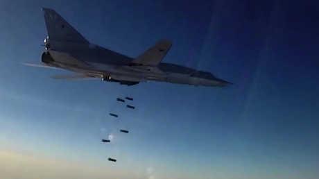 قاذفة روسية في سوريا