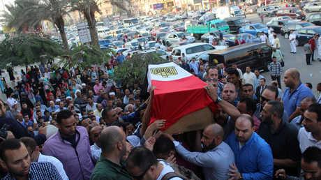 تشييع ضابط شرطة قتل في هجوم الواحات