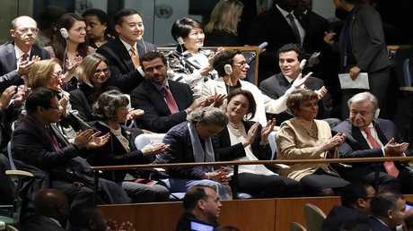 أرشيف - إحدى الفعاليات في مقر الأمم المتحدة في نيويورك، 12 ديسمبر 2016