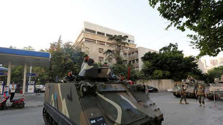 دورية للجيش اللبناني في بيروت