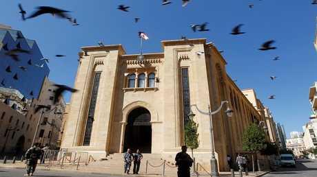 مبنى البرلمان في وسط بيروت، لبنان 17 أكتوبر 2017