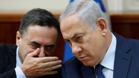 وزير شؤون الاستخبارات الإسرائيلي، يسرائيل كاتس، ورئيس الوزراء الإسرائيلي، بنيامين نتنياهو.
