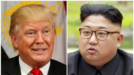 زعيم كوريا الشمالية، كيم جونغ أون، والرئيس الأمريكي، دونالد ترامب