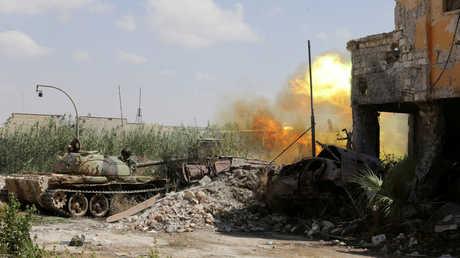 اشتباكات بين الجيش الوطني الليبي ومسلحين إسلاميين في بنغازي - أرشيف