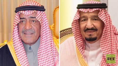 العاهل السعودي، الملك سلمان بن عبد العزيز، وأخوه، الأمير مقرن بن عبد العزيز