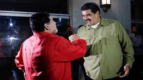 مادورو ومارادونا، كراكاس، فنزويلا 6 نوفمبر 2017
