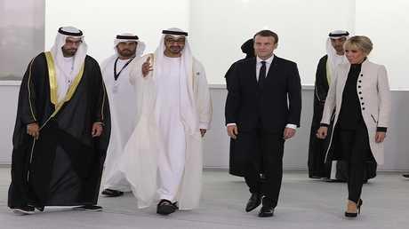الرئيس الفرنسي إيمانويل ماكرون وولي عهد أبوظبي الشيخ محمد بن زايد آل نهيان