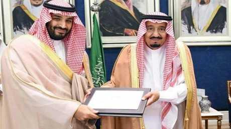 الملك  سلمان بن عبد العزيز وريث العرش محمد بن سلمان