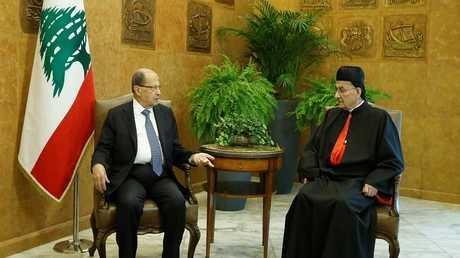 الرئيس اللبناني ميشال عون والبطريرك الماروني مار بشارة بطرس الراعي