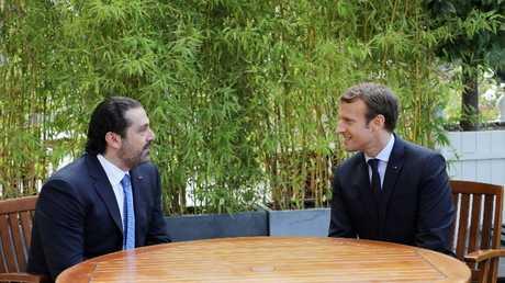 لقاء سابق بين ماكرون والحريري