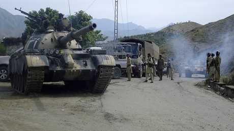 دبابة تابعة للجيش الباكستاني