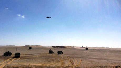 القوات المصرية في صحراء سيناء