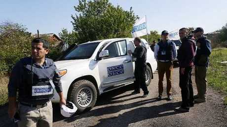 ممثلو منظمة الأمن والتعاون في أوروبا يطلعون على الوضع في منطقة النزاع جنوب شرقي أوكرانيا
