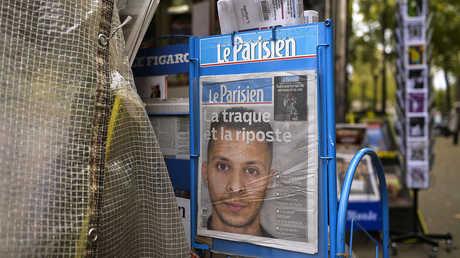 صورة لصلاح عبد السلام بعد إعلانه مطلوبا في فرنسا