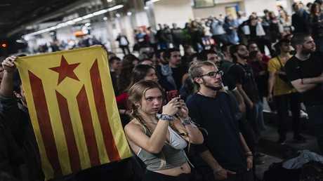 كتالونيا احتجاجات صورة من الأرشيف