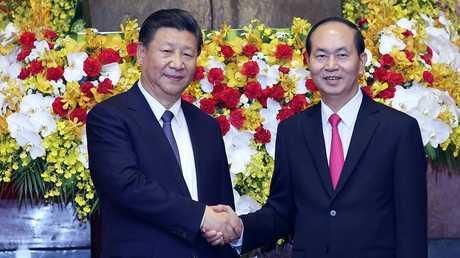 الرئيسان الصيني والفيتنامي في هانوي