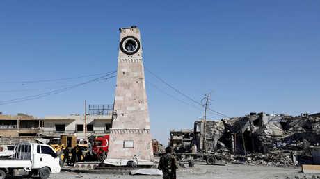 """وسط مدينة الرقة بعد خروج مسلحي """"داعش"""" منها"""