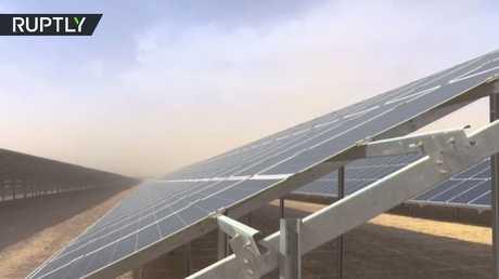تدشين محطة شمسية ضخمة في مخيم الزعتري