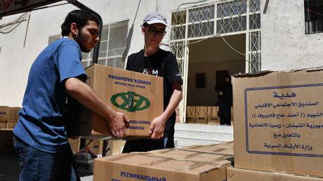 إيصال مساعدات إنسانية روسية إلى سوريا