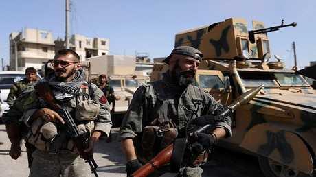 مقاتلون لقوات سوريا الديمقراطية في الرقة