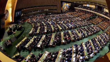 احدى جلسات الجمعية العامة للامم المتحدة