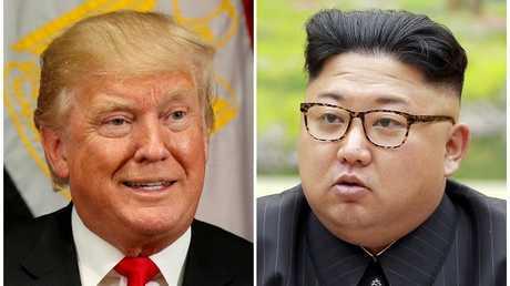 الرئيس الأمريكي دونالد ترامب والزعيم الكوري الشمالي كيم جونغ أون