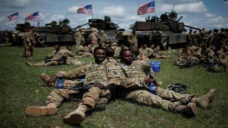أرشيف - قوات أمريكية - فازياني، جورجيا، 11 مايو 2016