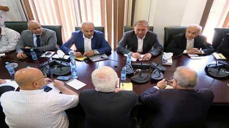 أرشيف - اجتماع لأعضاء من المعارضة السورية في الرياض، المملكة العربية السعودية 21 أغسطس 2017