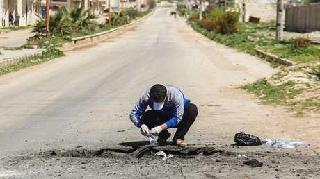 أرشيف - خان شيخون في شمال غرب محافظة إدلب في 5 نيسان 2017