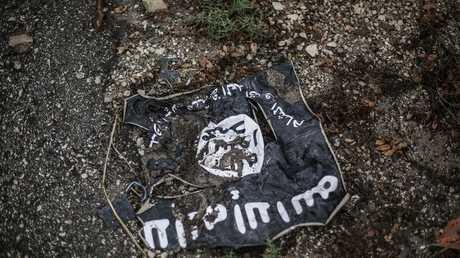 """علم """"داعش"""" (صورة أرشيفية)."""