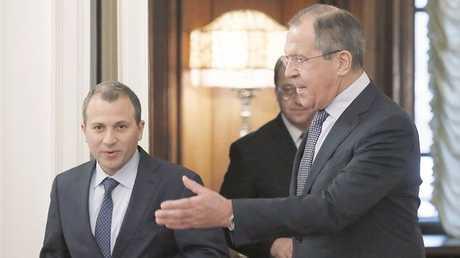 وزيرا الخارجية الروسي سيرغي لافروف واللبناني جبران باسيل - أرشيف