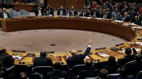 اجتماع في مجلس الأمن الدولي للتصويت على تجديد تفويض لجنة التحقيق في استخدام أسلحة كيميائية في سوريا - نيويورك، 16 نوفمبر 2017