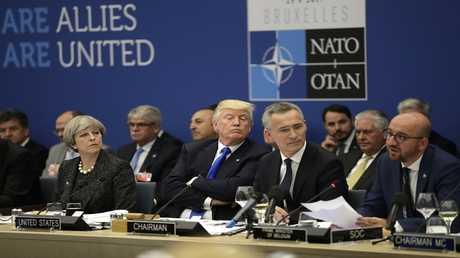 أرشيف - قمة الناتو في مقر المنظمة في بروكسل في 25 مايو 2017