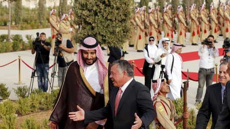 العاهل الأردني الملك عبد الله الثاني وولي العهد السعودي محمد بن سلمان