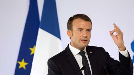 الرئيس الفرنسي، إيمانويل ماكرون.