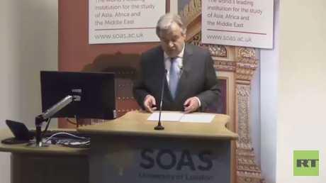 غوتيريش: هدف الإرهاب هدم القيم الإنسانية