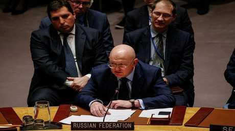 سفير روسيا لدى الأمم المتحدة فاسيلي نيبنزيا في مجلس الأمن الدولي - نيويورك - الولايات المتحدة، 17 نوفمبر 2017