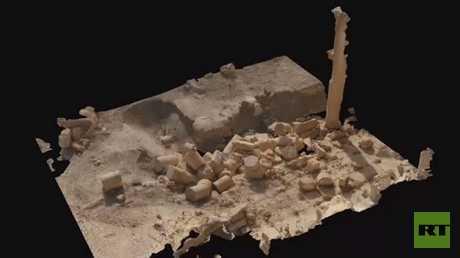 عنصر من النموذج الرقمي ثلاثي الأبعاد لمدينة تدمر الأثرية