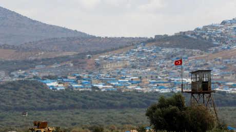 الحدود بين تركيا ومحافظة إدلب السورية